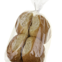 Whole Wheat Round Bread – Buns {4 per bag)