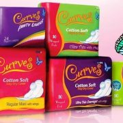 Curves Sanitary Napkins (10 wrapped Pads)