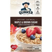 Quaker Oats – Instant Oatmeal packets (10 -12)