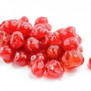 Red glace cherries per 1/2 pound (bagged)