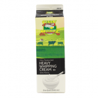 Heavy Whipping cream – 36% Milkfat (one quart)