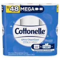 Cottonelle Toilet Paper (Qty 12 MEGA rolls = 48 regular)