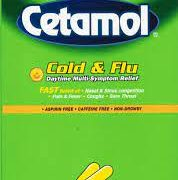 Cetamol Cold and Flu Daytime (2 pill pack)